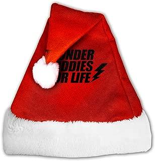 EOYIJIUWU Cute Christmas Hats Thunder Buddies for Life Santa Hats for Christmas Costume Party Decoration