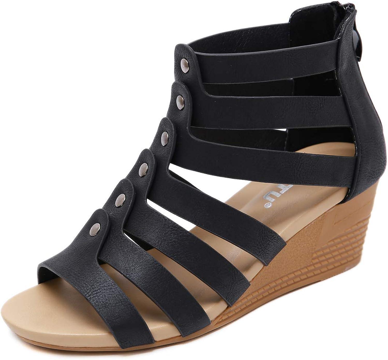 Memorygou Women's Elastic Flat Sandals Open Toe Ankle Strap Summer shoes for Women