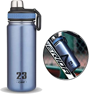 CILLE 24oz Birthday Gift Stainless Steel Insulated Water Bottles, Double Wall Leak Proof Bicycle Lightweight Thermal Best Vacuum Autoseal Water Bottle for Sports Water Bottle (Light Green)