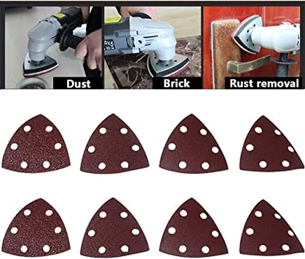 3-1//8 by 3-1//8, 12per Pack Eazypower 50605 Triangle Emery Cloth Hook /& Loop 180 Grit Sanding Pads For Oscillating Tools 3-1//8 by 3-1//8
