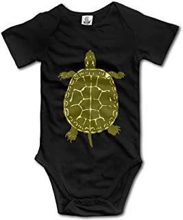 Toddler Baby Girls Native American Turtles Short Sleeve Bodysuit, Printed Cotton Bodysuit Outfits Clothes