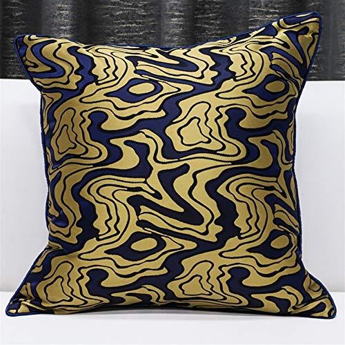 HOUMEL kussensloop zwart en goud gestreept patroon kussensloop sprei kussensloop vierkant huis bank kussensloop 45 X 45 cm (18