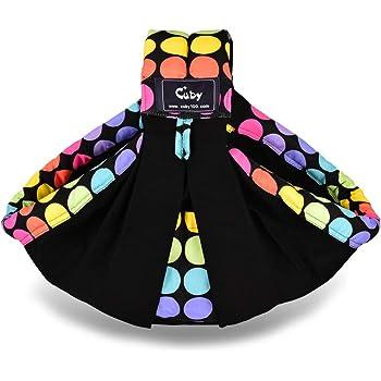 CUBY ベビースリング ベビーキャリア 抱っこひも 新生児 対象0~2歳 片肩 説明書あり 日本正規品(国内安全基準適合品)(カラードット)