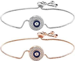 Tuccpai Evil Eye Amulet Ankle Bracelet Adjustable Women's Men's Lucky Nazar Bracelet