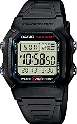 Casio Collection  W-800H-1AVES, Reloj Digital Unisex, Negro