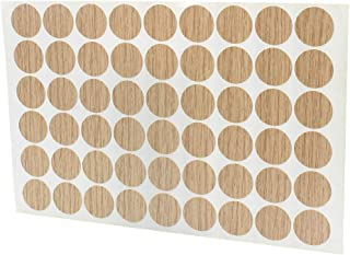 MyLifeUNIT Home Office Screw Holes Cover Caps Stickers (1 Sheet 54 Caps) (Wood)