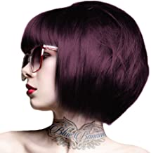crazy color aubergine on dark hair