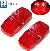 NEW SUN Trailer Boat RV Red LED Lights Surface Mount 10 Diodes Bullseye Clearance Side Marker Light 2-Pack