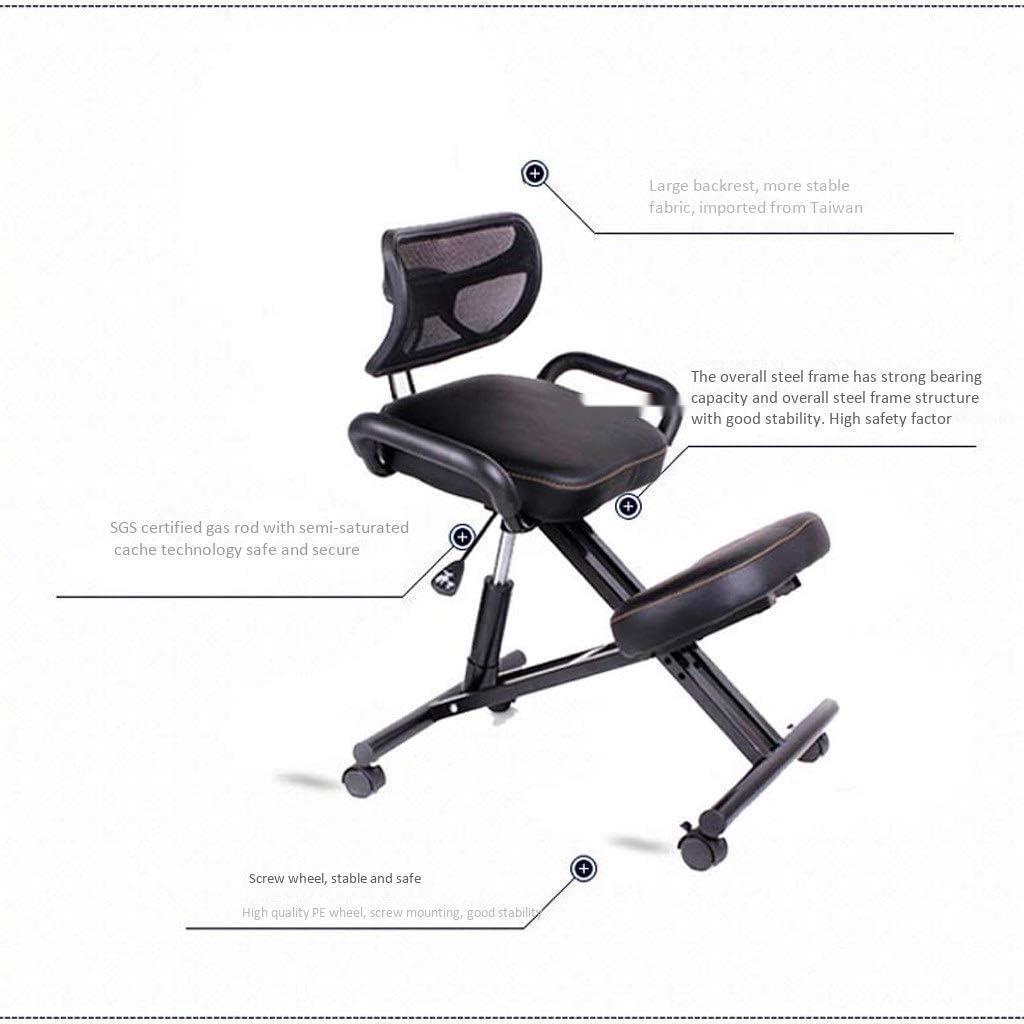 ZJHCC Chaises à Genoux avec Dossier - Posture Ergonomique Tabouret de Bureau Chaise Siège Soins de santé Chaises Design (Couleur: Vert) Red