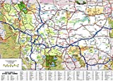 Large Detailed Roads and Highways map of Montana State with All Cities and National Parks Vivid Imagery Laminated Poster Print-20 Inch by 30 Inch Laminated Poster