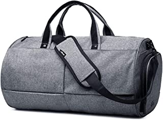 Cylindrical Gym Bag Short Trip Travel Bag with Shoes Compartment Waterproof & Durable Waterproof Travel Duffel Bag Rack Bag for Men/Women