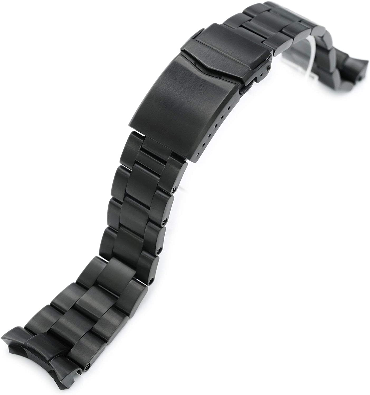 22mm DLC Black Mesa Mall Watch Band Compatible Super- Bargain sale 5 Seiko SRPD51 with