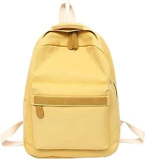 Beautiful-Day backpack Bolsass Damen Rucksack aus Segeltuch für Mädchen, gelb Gelb - shoulder-handbags
