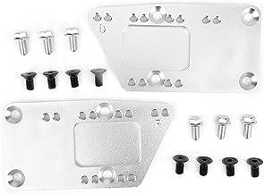 Suuonee Engine Swap Brackets, Aluminum Alloy Engine Swap Brackets Fit for SBC LS Conversion Motor Mount Adjustable Plate