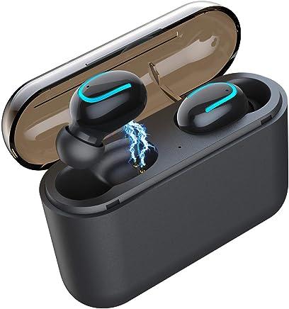 【進化版 Bluetooth4.2】Bluetooth イヤホン 完全ワイヤレスイヤホン 高音質 ステレオ 24時間連続駆動両耳片耳対応 スポーツ インナーイヤー型イヤホン超小型&軽量 マイク内蔵ヘッドセッIPX5級防水 iPhone/ipad/Android対応