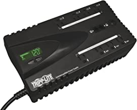 Tripp Lite 650VA UPS Battery Backup, LCD, 325W Eco Green, USB, RJ11, 8 Outlets, 3 Year Warranty & $100,000 Insurance (ECO650LCD)