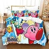 Kirby Cartoon Game 3D Bedding Set Duvet Covers Cute Pink Ball Anime Comforter Bedding Sets Bedclothes Bed Linen