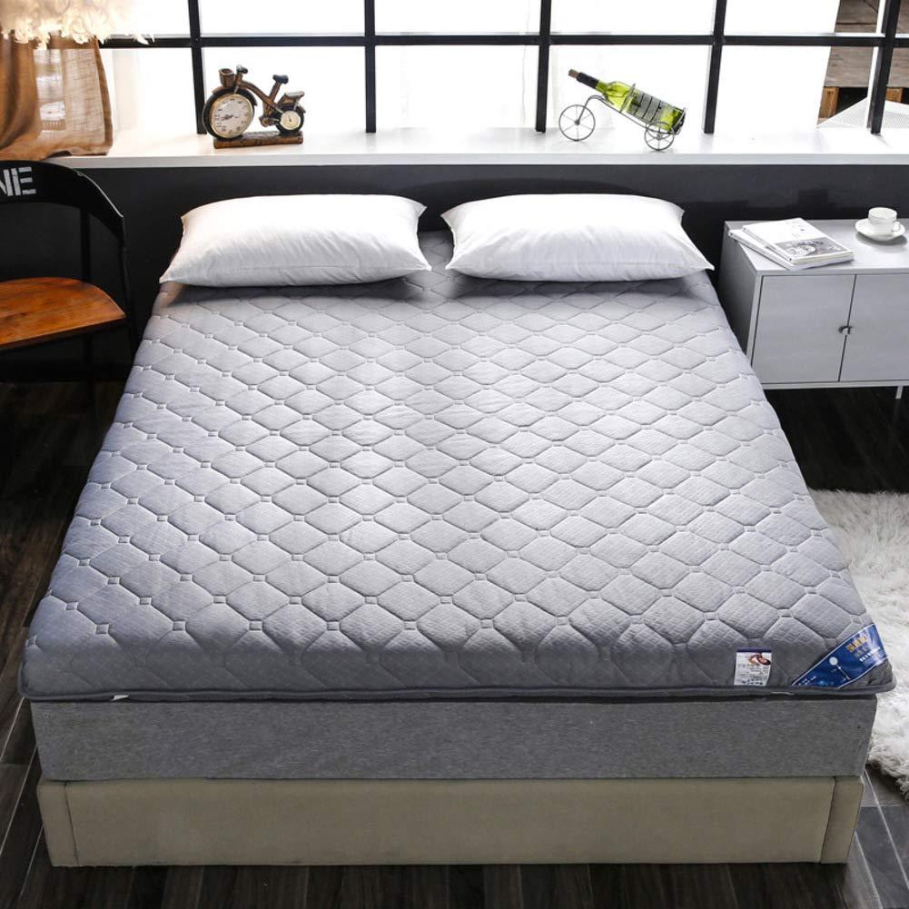 KE & LE Japonés Suelo Futón Colchón Tatami, Algodón Plegable Ultra Soft Hipoalergénico Acolchado Espesar Funda de colchón Tatami Topper-C 120x200x6cm: Amazon.es: Hogar