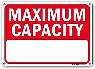 Best pool capacity sign Reviews