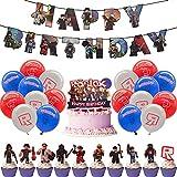 31 pièces Riblx décorations de fête Pack Cupcake Toppers pour décorations de gâteau de fête Fournitures de fête décorations, Riblx Party Supplies pour Enfants