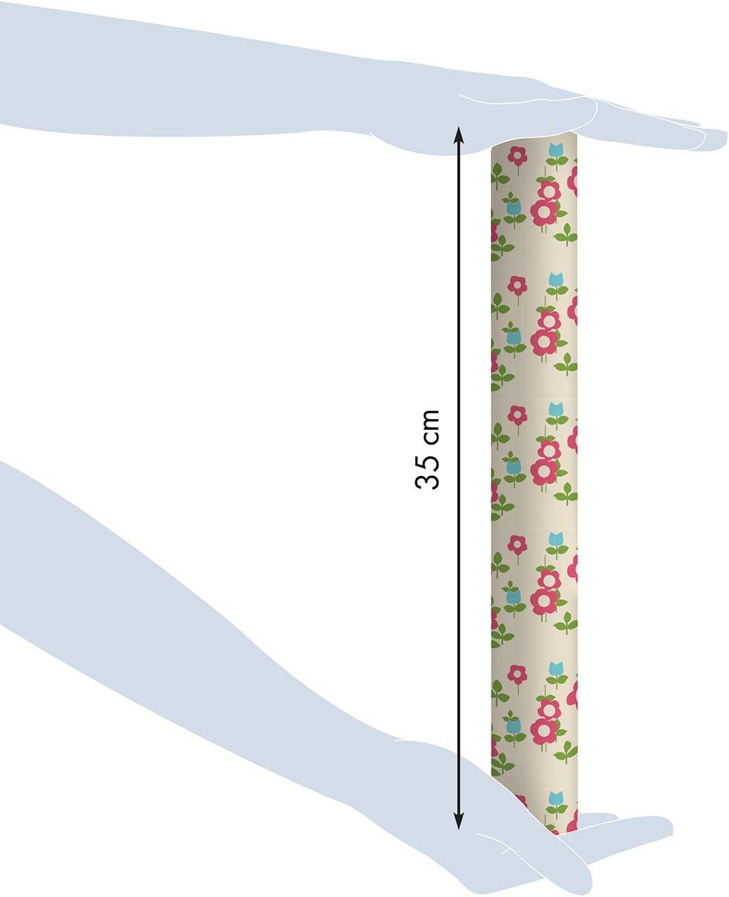 Clairefontaine 223866c Tiny Rolls Rollo De Papel De Regalo 5 M X 35 Cm 80 G Diseño De Flores Rojas Amazon Es Oficina Y Papelería