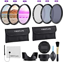 49mm 52mm 55mm 58mm 62mm 67mm 72mm 77mm 82mm CPL FLD ND2 ND4 ND8 Lens Filters Kit with Pouch Photography Tackle Carry Pouch Lens Hood Lens Cap Clean Cloth Brush 82mm