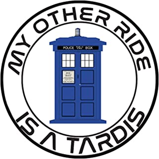 Bargain Max Decals - My Other Ride is a Tardis Circle - Sticker Decal Notebook Car Laptop 5