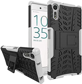 Ikwcase Sony Xperia XZ/XR Case, Heavy Duty Armor Tough Hybrid Shockproof Dual Layer Kickstand Protective Case Cover for So...