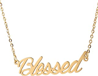Best gold stainless steel name necklace Reviews