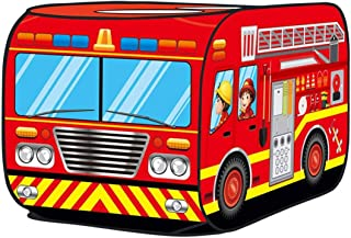 Glisoo Fire Truck Pop Up Play Tent for Kids (red fire Truck)