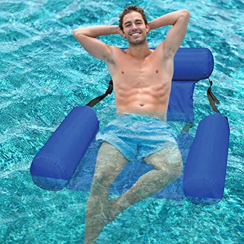Settoo Aufblasbare Hängematte, Pool Float Hängematte, aufblasbare schwimmende Reihe Rückenlehne aufblasbares schwimmendes Bett Langlebiges tragbares Wasser Erholung Lounge Chair