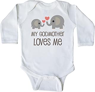 inktastic My Godmother Loves Me Long Sleeve Creeper