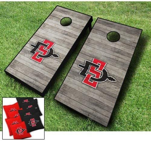Cheap mail order shopping SAN Diego State Aztecs Distressed Cornhole Themed Wraps Se Max 46% OFF Board