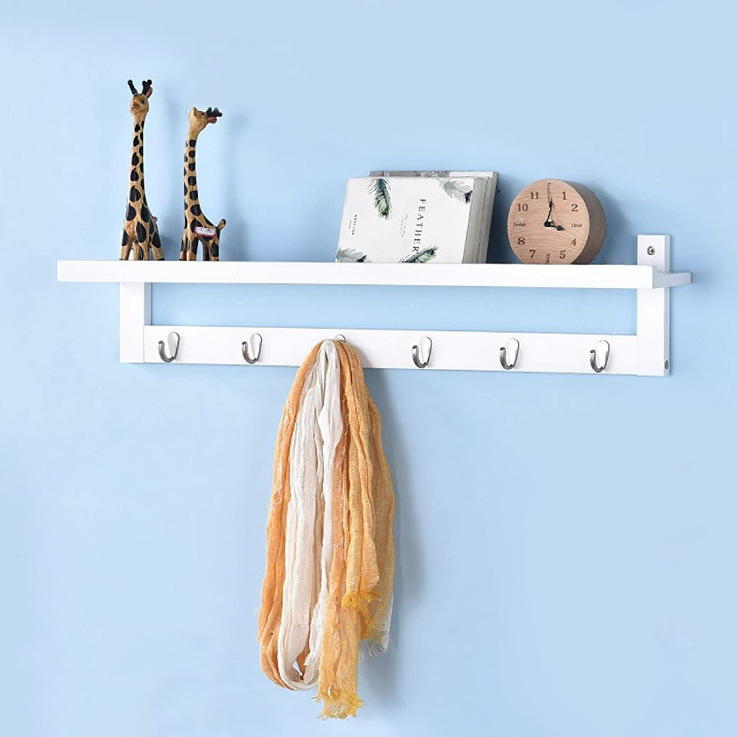 Wall Mounted Coat Rack, Wall-Hung Coat Hooks,Bedroom Living Room Entrance Creativity Simple Modern Solid Wood Wall-Mounted Coat Racks. (Size   87  12.5cm)