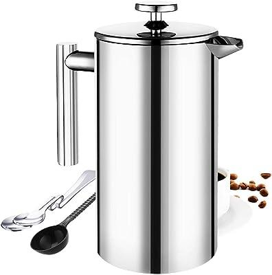 Amazon.com: Prensa de acero inoxidable de café ...