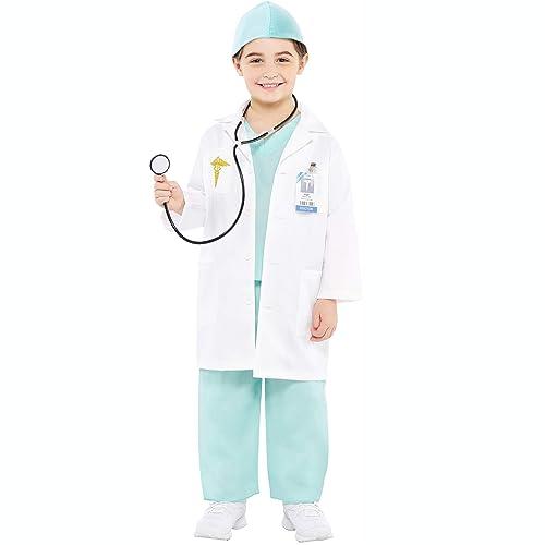 Children Kids Role Play Doctor Coat Costume Uniform Dress Up Clothes