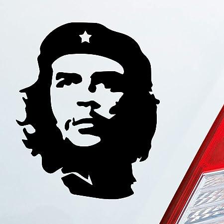 Etaia 8x10 Cm Auto Aufkleber Che Guevara Mit Roter Stern Revolution In Kuba Cuba Sticker Motorrad Biker Bike Auto