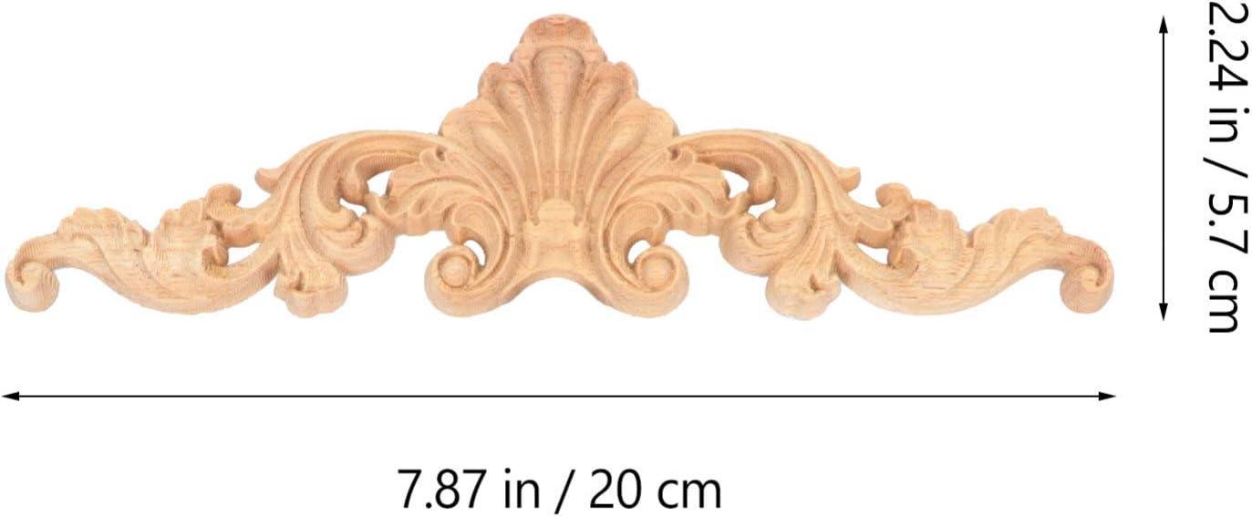 Artibetter 6 Pezzi in Legno Intagliato Ad Angolo Appliques in Legno Onlay Porta Armadio Letto Decorazione Applique