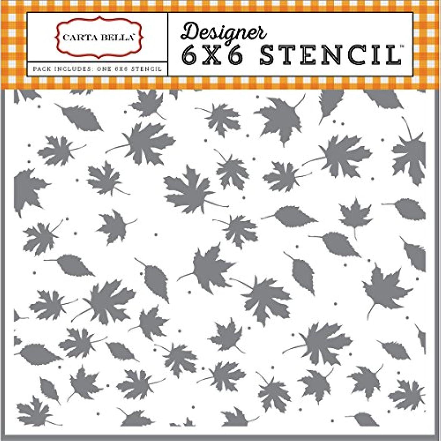 Carta Bella Stencil 6x6-Crisp Autumn