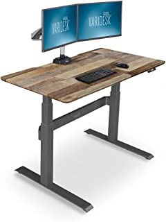 VARIDESK – Full Electric Desk – PRODESK 48 Electric Reclaimed Wood - 3-Button Memory Settings