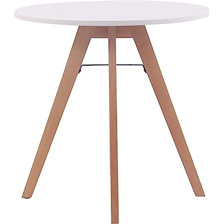Table Ronde de Cuisine Viktor - Table de Salle à Manger avec Plateau en MDF - Table de Bistro Pieds en Bois de Chêne - Taille :, Taille:75 cm