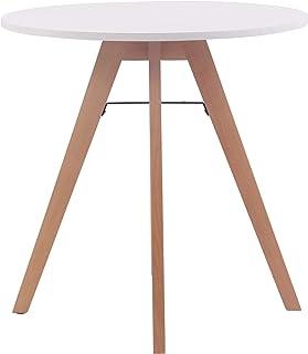 Table Ronde de Cuisine Viktor - Table de Salle à Manger avec Plateau en MDF - Table de Bistro Pieds en Bois de Chêne - Tai...