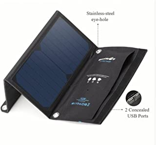 Marketed by Miraj 15W Solar Power Bank Portable Dual USB Charger (15W Solar Power Bank Portable Dual USB Charger)