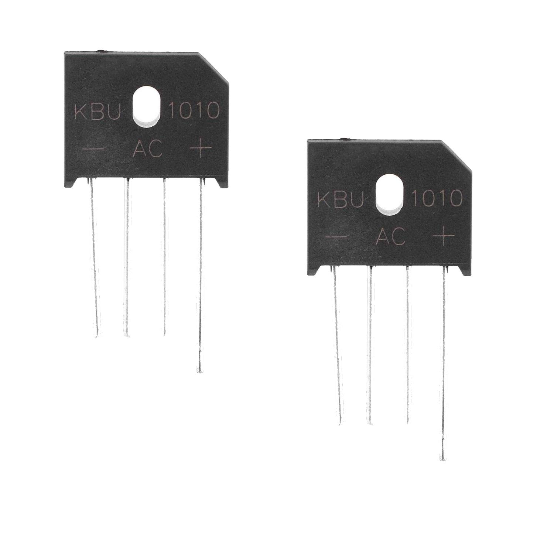 Movilideas - 2 Unidades Puente Diodo Rectificador KBU1010 DIP-4 4 PIN 1000V 10A