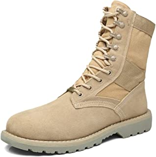 Giles Jones Men's Combat Boots Autumn Winter Anti-Slip Light Desert Motorcycle Boots