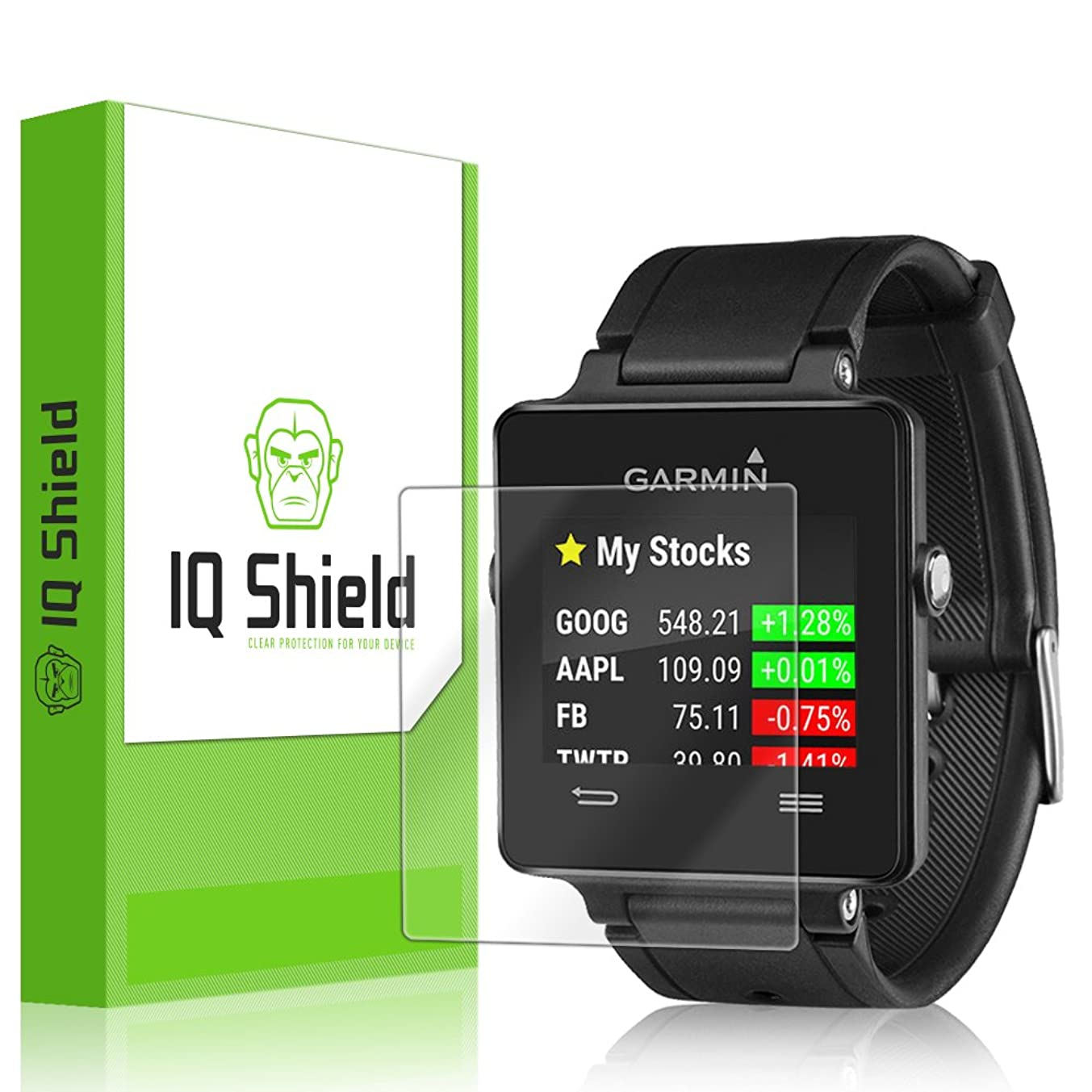 [6-Pack] IQ Shield LiQuidSkin Clear Screen Protector for Garmin Vivoactive Bubble Free Film