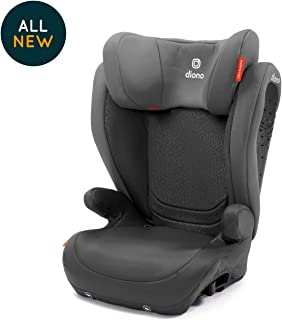 Diono Monterey 4 DXT Latch, The Original Expandable Booster Seat, 40-120 lbs, Grey Dark