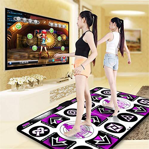 SHDT Doppeltanzmatte, Anti-Rutsch-Haltbarer Haltbarer Tanzschritt-Pad, TV Computer-Dual-Use Somatosensory Tanz-Matten Für Kinder Erwachsene