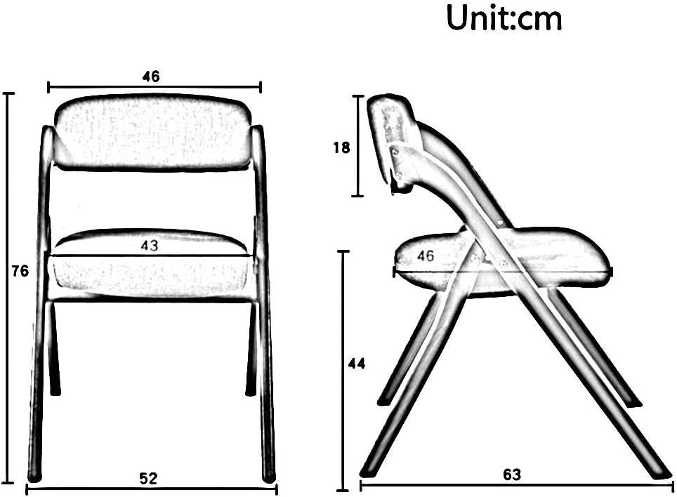 WANG Chaise de Bureau Chaise, Jambe de hêtre Jambe PU Tissu en Cuir Cuir Portable Pliant Ménage Salon/Salle À Manger Lounge Chair 3 Couleurs (Color : Coffee Color) Black