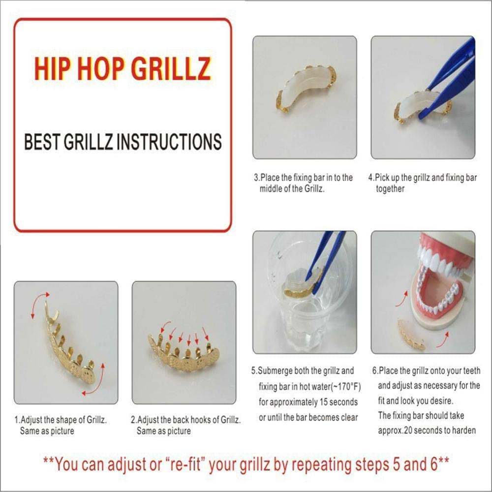 COCOCO Tooth Cap Unisex Single Metal Rock Rapper Teeth Decor Hip Hop Cosplay Jewelry Dental Grills Teeth Cap Body Piercing